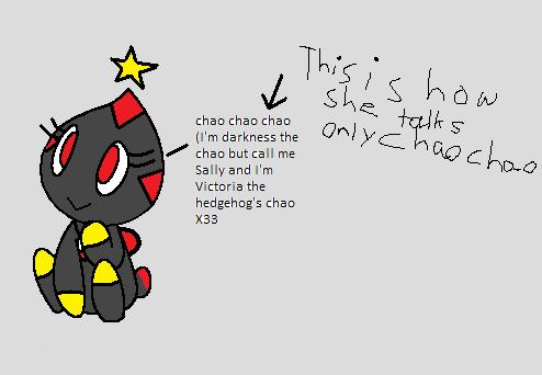 Darkness the chao but call her Sally