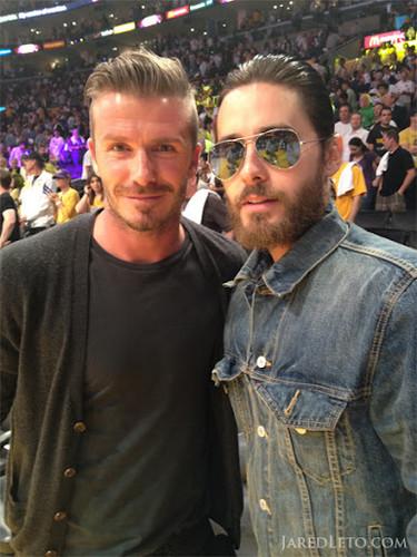 David Beckham and Jared Leto