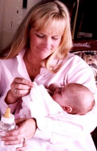 Debbie Rowe with baby Paris!
