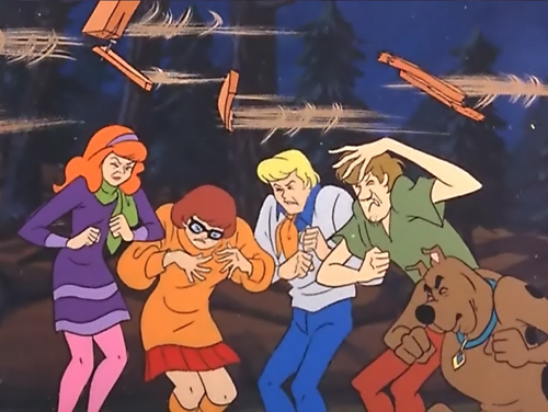 Scooby-Doo wallpaper with anime called Duck!