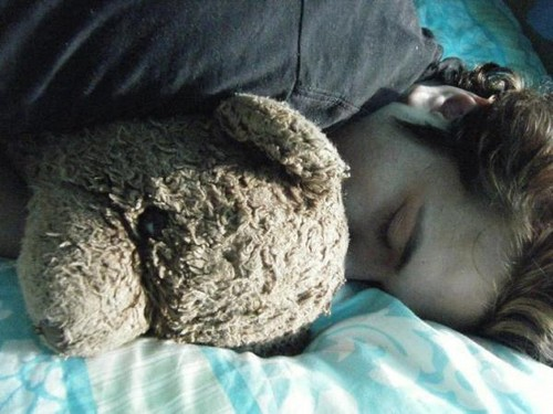 Edward and his teddy bear =3