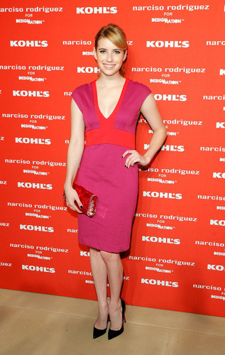Emma Roberts at Narciso Rodriguez Kohl's Collection Launch Party