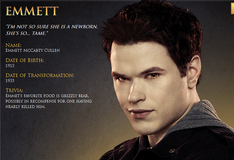 Twilight Character Profiles Emmett Character Profile