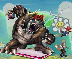 Super Mario Hintergrund containing Anime titled Epic Bowser