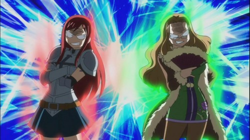 Erza and Evergreen