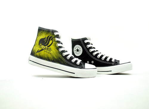 Fairy tail hand painted shoes