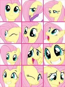 Flutteshy's faces