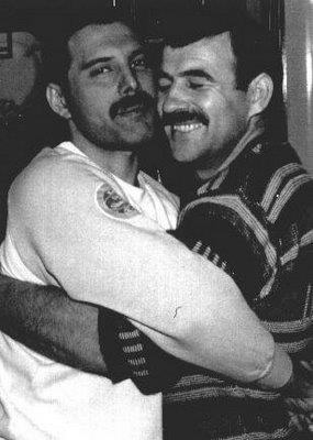 Freddie Mercury wallpaper titled Freddie and Jim Hutton