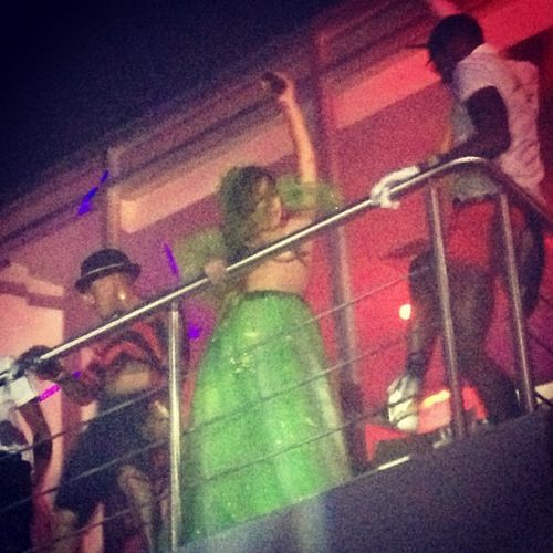 Gaga at a হ্যালোইন party in Puerto Rico