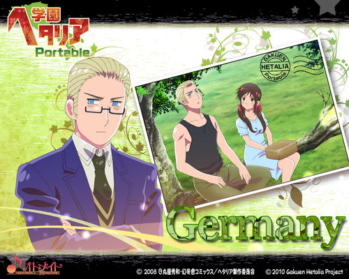 Hetalia: Germany wallpaper with Anime titled Gakuen Germany