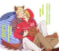 GerAme - hetalia-couples fan art