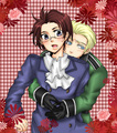 GerAus - hetalia-couples fan art