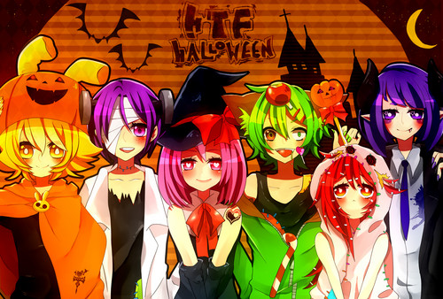 Anime Hintergrund possibly containing Anime titled Halloween Anime_Girl