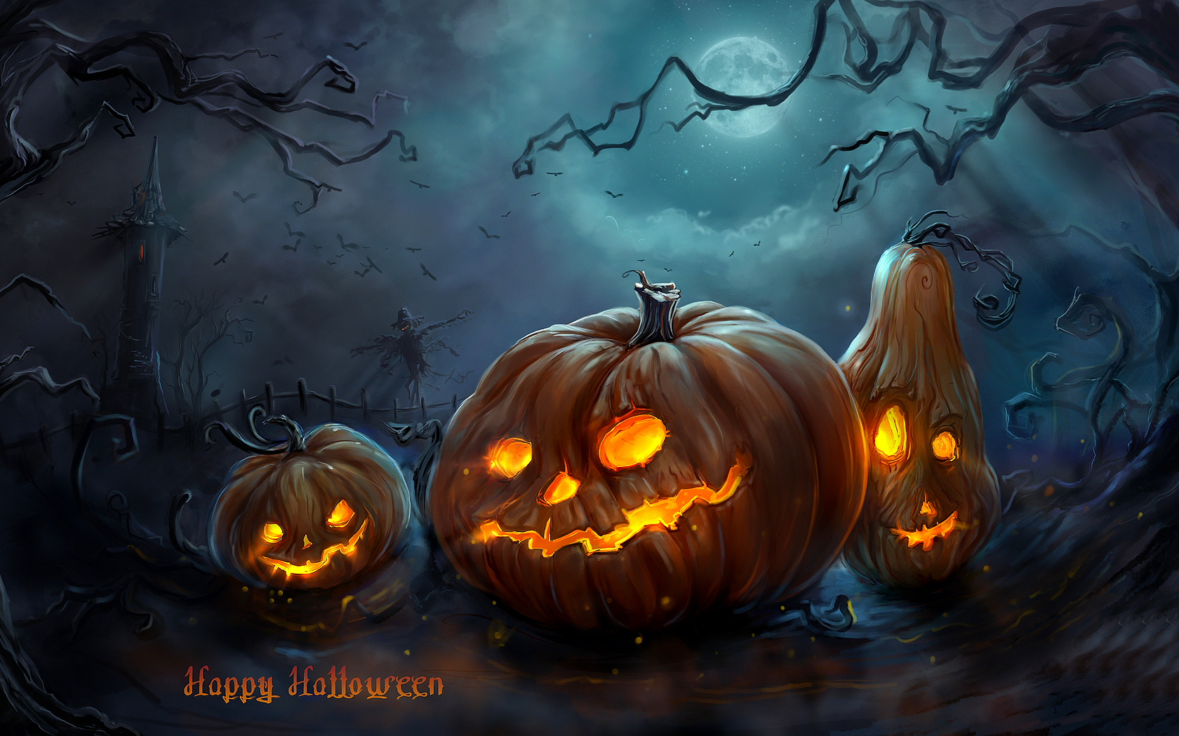 Halloween random wallpaper 32631376 fanpop Awesome pumpkin drawings