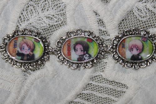 Hetalia - choose your own characters custom bracelet