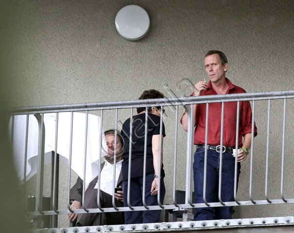 Hugh Laurie and his wife Jo Green and Jay Bellerose July 2012
