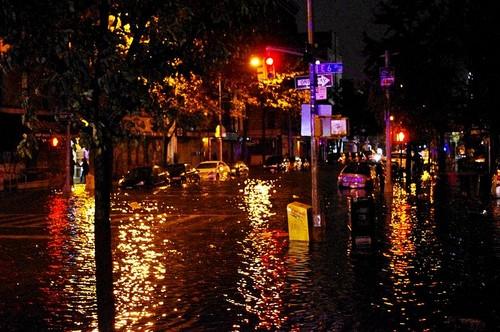 Hurricane Sandy's aftermath in Manhattan NY