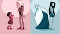 Ice King and Marceline Before and After