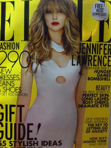 Jenn covers 'Elle US' December 2012. [two alternate covers]