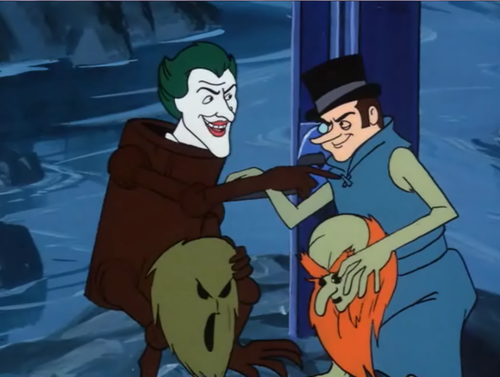 Joker and pinguim as Scooby Villains