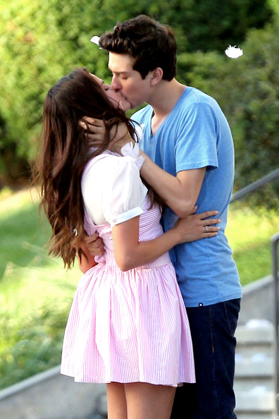 Justin and Alex Russo kiss