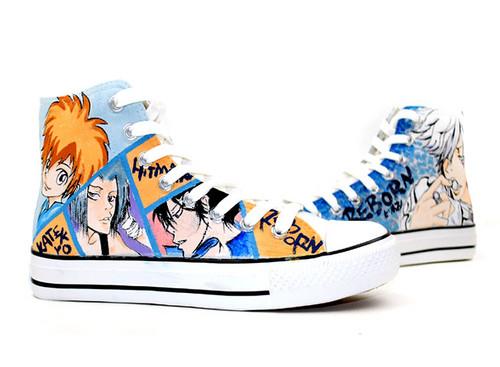 Katekyo Hitman Reborn hand painted shoes