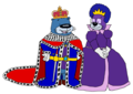 King Ernest and Queen Opal - pb-and-j-otter fan art