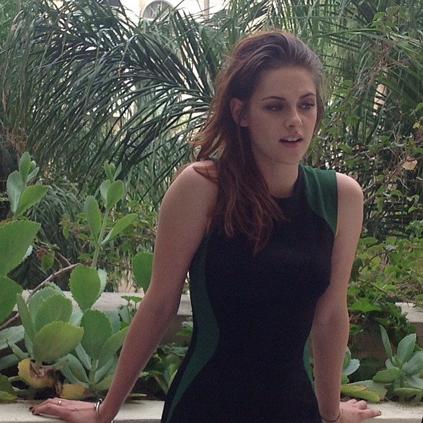 "Kristen during an LA press day for ""The Twilight Saga: Breaking Dawn, Part 2""."