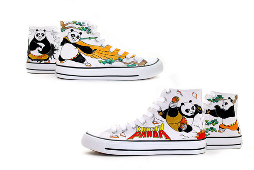 Kung fu panda custom canvas shoes