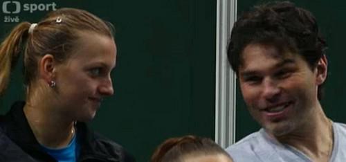 Kvitova Jagr smile