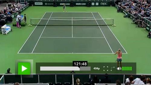 Kvitova and Jagr Küssen beside Tennis court