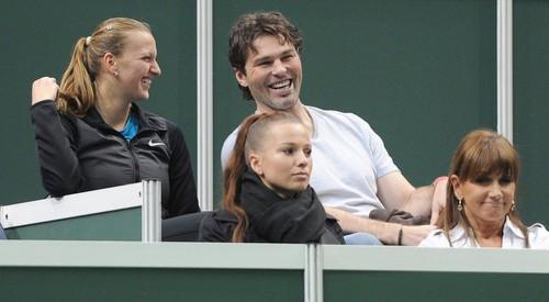 Kvitova with Jagr
