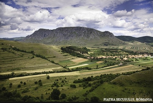 Limestone rock mountain - Piatra Secuiului Carpathian mountains Romania natural landscape