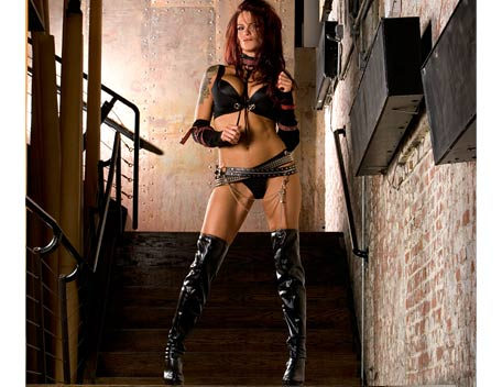 "Amy ""Lita"" Dumas wallpaper containing a hip boot titled Lita Photoshoot Flashback"