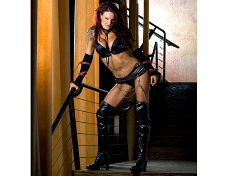 "Amy ""Lita"" Dumas Hintergrund titled Lita Photoshoot Flashback"