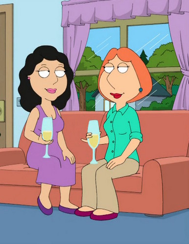Family Guy achtergrond containing anime entitled Lois and Bonnie kiss 1