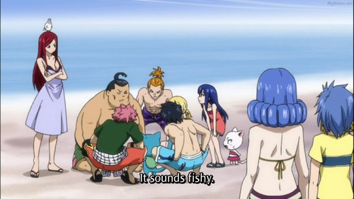 LOL look whats on Erza's head XD