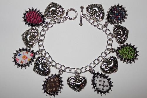 Louis Vuitton Monogram Inspired charm bracelet