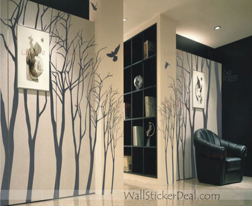Love Forest Winter Tree Wall Stickers