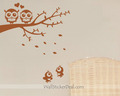 Lovely Owls Couple On Branches With Baby Wall Decals - home-decorating photo