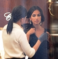 Madalina Ghenea shopping in Italy