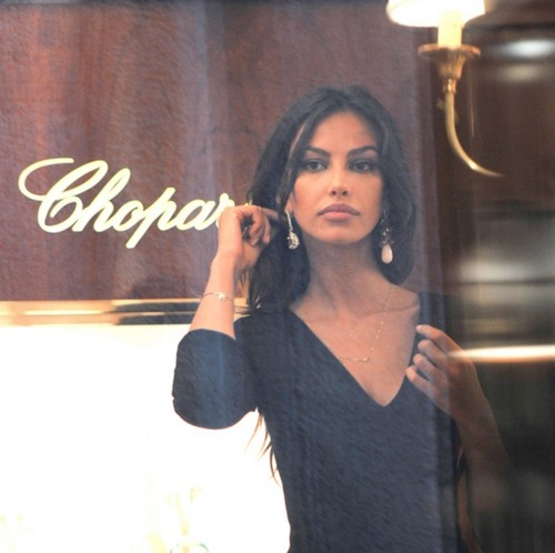 Madalina Ghenea shopping for jewelry in Italy