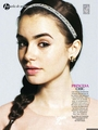Magazine scans: Glamour Spain (November 2012) - lily-collins photo