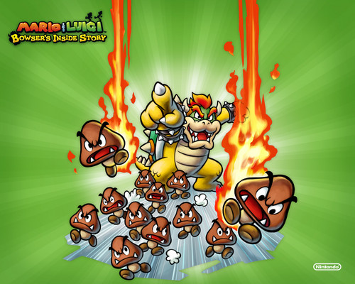 Super Mario Bros. wallpaper probably with anime entitled Mario and Luigi Bowser inside story