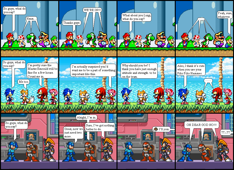 Mario vs Sonic vs Magaman