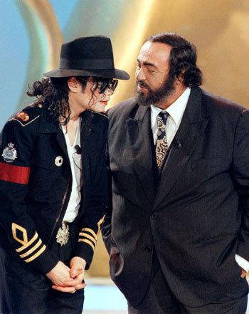 Michael And Legendary Opera Star, Luciano Pavarotti