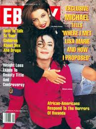 "Michael And Lisa Marie On The October 1994 Issue Of ""EBONY"" Magazine"
