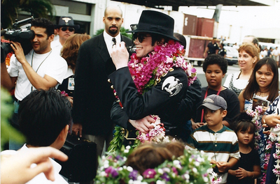 Michael Jackson wallpaper possibly with a bouquet and a bridesmaid entitled Michael In Hawaii Back In 1997