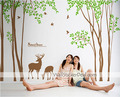 Natural House pokok and Deers dinding Sticker