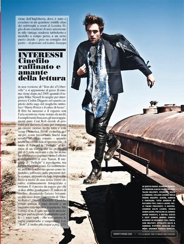 "New scans: Rob in ""L'Uomo Vogue"" magazine {November 2012}."